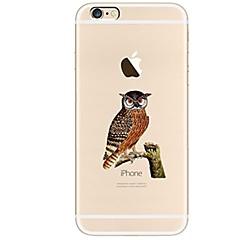Назначение iPhone X iPhone 8 Чехлы панели Ультратонкий Прозрачный С узором Задняя крышка Кейс для Сова Мягкий Термопластик для Apple