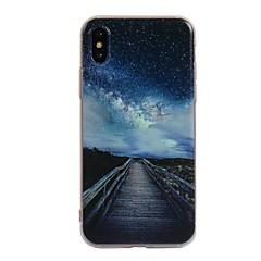 Недорогие Кейсы для iPhone X-Кейс для Назначение Apple iPhone X iPhone 8 С узором Кейс на заднюю панель Пейзаж Мягкий ТПУ для iPhone X iPhone 8 Pluss iPhone 8 iPhone