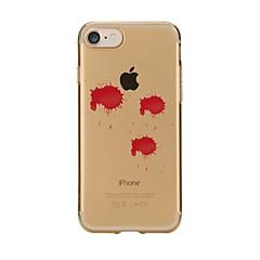 olcso iPhone 5S / SE tokok-Kompatibilitás iPhone 7 iPhone 7 Plus tokok Átlátszó Minta Hátlap Case Más Puha Hőre lágyuló poliuretán mert Apple iPhone 7 Plus iPhone 7