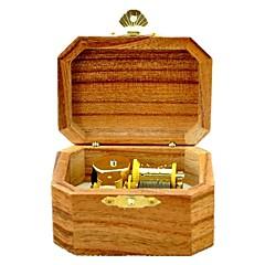 Music Box Zabawka nakręcana Zabawki Retro Ośmiokątne Drewniany Sztuk Dla obu płci Urodziny Prezent