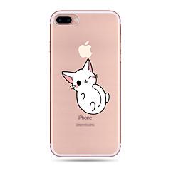 для корпуса крышка ультратонкий прозрачный узор задняя крышка чехол кошка мягкий tpu для яблока iphone x iphone 8 плюс iphone 8 iphone 7