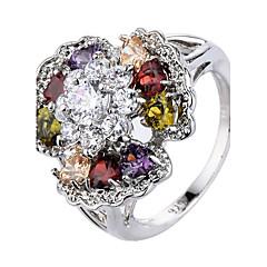 Муж. Жен. Кольцо на кончик пальца Обручальное кольцо Цирконий Мода Pоскошные ювелирные изделия Классика Elegant Циркон Медь В форме цветка