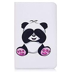 preiswerte Tablet-Hüllen-Hülle Für Samsung Galaxy Ganzkörper-Gehäuse Tablet-Hüllen Panda Hart PU-Leder für Tab E 9.6