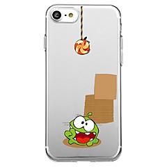 Назначение iPhone X iPhone 8 Чехлы панели С узором Задняя крышка Кейс для Композиция с логотипом Apple Мультипликация Мягкий Термопластик