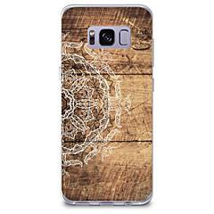 olcso Galaxy S3 tokok-Case Kompatibilitás Samsung Galaxy Minta Fekete tok Fa mintázat Mandala Puha TPU mert S8 Plus S8 S7 edge S7 S6 edge plus S6 edge S6 S6