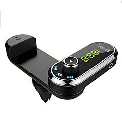 Недорогие Bluetooth гарнитуры для авто-f1 bluetooth car fm передатчик громкой связи автомобильный комплект воздушный вентилятор телефон держатель mp3-плеер с аудио-приемником