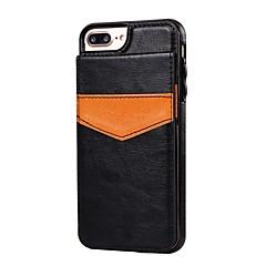 Недорогие Кейсы для iPhone 7 Plus-Кейс для Назначение iPhone 7 Plus IPhone 7 Apple iPhone 8 iPhone 7 Бумажник для карт со стендом Кейс на заднюю панель Однотонный Твердый