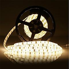 olcso -18W LED-es szalagfények 7500 DC12 5m 300 led Meleg fehér Fehér