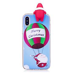 Кейс для Назначение Apple iPhone X iPhone 8 Plus С узором Своими руками Задняя крышка 3D в мультяшном стиле Рождество Мягкий TPU для
