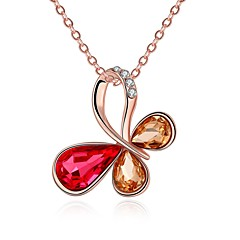 Women's Pendant Necklaces Chain Necklaces Crystal Cubic Zirconia Bowknot Irregular Zircon Silver Plated Fashion Hypoallergenic Jewelry For