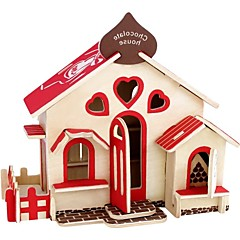 قطع تركيب3D تركيب خشبي مجموعات البناء ألعاب بيت 3D المنازل فاشن الاطفال اصنع بنفسك عرض ساخن كلاسيكي أزياء تصميم جديد الأطفال 1 قطع
