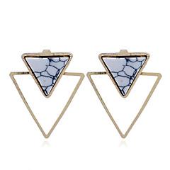 preiswerte Ohrringe-Damen Türkis Geometrisch Ohrstecker - vergoldet Personalisiert, Punk Gold / Weiß Für Geschenk / Normal