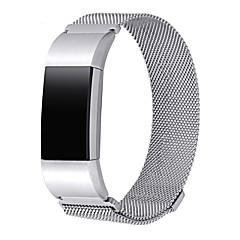 banda de metal para fitbit charge 2jewelry accesorios pulsera con cierre magnético-plata