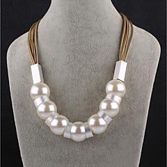 preiswerte Halsketten-Damen Ketten - Künstliche Perle Schwarz, Braun Modische Halsketten Für Party, Bühne