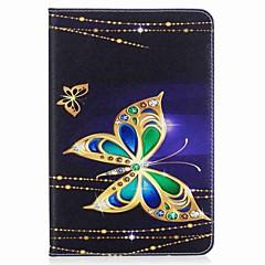 vlinderpatroon kaarthouder portemonnee met statief flip magnetisch pu lederen hoesje voor Samsung Galaxy Tab een 8.0 t350 t355 8,0 inch
