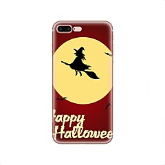 Недорогие Кейсы для iPhone X-Кейс для Назначение Apple iPhone X iPhone 8 iPhone 8 Plus С узором Кейс на заднюю панель Halloween Мягкий ТПУ для iPhone X iPhone 8 Pluss