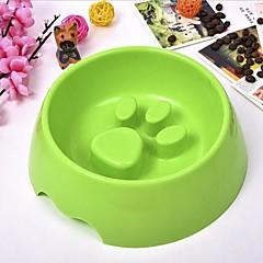 cheap -L Cat Dog Bowls & Water Bottles Pet Bowls & Feeding Durable Brown Green Blue Pink