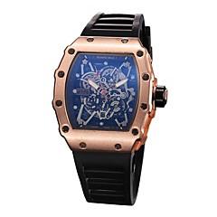 preiswerte Tolle Angebote auf Uhren-Herrn Sportuhr Armbanduhr Quartz Armbanduhren für den Alltag Caucho Band Analog Charme Schwarz - Schwarz Silber Rotgold