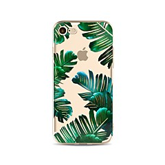 Capinha Para iPhone X iPhone 8 Transparente Estampada Capa Traseira Árvore Macia TPU para iPhone X iPhone 8 Plus iPhone 8 iPhone 7 Plus