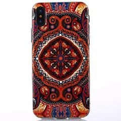 Недорогие Кейсы для iPhone X-Кейс для Назначение Apple iPhone X iPhone X IMD Кейс на заднюю панель Мандала Цветы Сияние и блеск Мягкий ТПУ для iPhone X