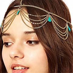Недорогие Женские украшения-Жен. Старинный Богемный Бирюза Цепочка на голову Сплав