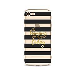 Недорогие Кейсы для iPhone 4s / 4-Кейс для Назначение Apple iPhone X iPhone 8 Прозрачный С узором Кейс на заднюю панель Полосы / волосы Слова / выражения Мягкий ТПУ для