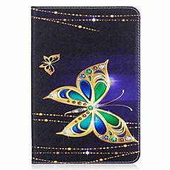 preiswerte Tablet-Hüllen-Hülle Für Samsung Galaxy / Tab S2 8.0 Ganzkörper-Gehäuse / Tablet-Hüllen Schmetterling Hart PU-Leder für