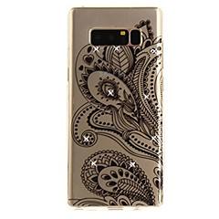 Etui Käyttötarkoitus Note 8 Paljetti Ultraohut Läpinäkyvä Kuvio Takakuori Lace Printing Pehmeä TPU varten Note 8 Note 5 Edge Note 5 Note