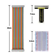 abordables Conectores y Terminales-tabla de cortar de frambuesa pi v1 board40p cinta de cable de 400 hoyos