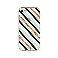 Недорогие Кейсы для iPhone 4s / 4-Кейс для Назначение iPhone X iPhone 8 Прозрачный С узором Задняя крышка Полосы / волосы Сияние и блеск Мягкий TPU для iPhone X iPhone 8