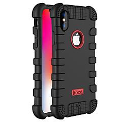 Кейс для Назначение Apple iPhone X Защита от пыли Чехол Сплошной цвет Мягкий Силикон для iPhone X
