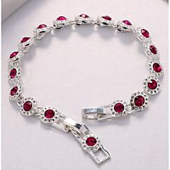 preiswerte Armbänder-Damen Kubikzirkonia Ketten- & Glieder-Armbänder - Kubikzirkonia, versilbert Armbänder Rot Für Hochzeit Party
