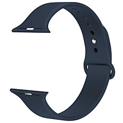 38MM Langte Silicone Apple Watch Band for Apple Watch Series 2/1 / Sport Edition -black