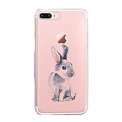 Кейс для Назначение Apple iPhone X iPhone 8 iPhone 8 Plus Ультратонкий Прозрачный С узором Задняя крышка Животное Мягкий TPU для iPhone X