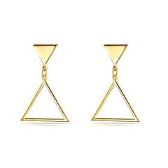 billige Drop Øreringe-Dame Dråbeøreringe Smykker Mode Statement-smykker Plastik Guldbelagt Trekantet Smykker Til Fest Afslappet