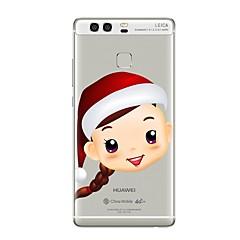 Кейс для Назначение Huawei P9 P10 Прозрачный С узором Задняя крышка Прозрачный Рождество Мягкий TPU для Huawei P10 Plus Huawei P10 Lite