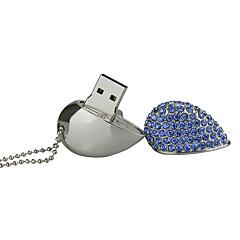 32G U Disk Crystal  Pen Drive  Pen Drive Jewelry Usb Flash Drive USB 2.0 Christmas Gift