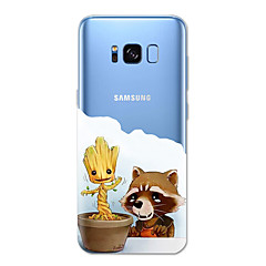 Etui Til Samsung Galaxy S8 Plus S8 Mønster Bagcover Dyr Tegneserie Træ Blødt TPU for S8 S8 Plus S7 edge S7 S6 edge plus S6 edge S6 S5 S4