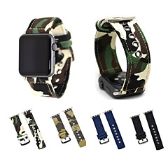 til æbleur iwatch serie 3 2 1 camouflage lærred vævet armbånd armbånd med metal lås adapter