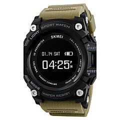 お買い得  メンズ腕時計-SKMEI 男性用 リストウォッチ 日本産 デジタル 30 m 耐水 大きめ文字盤 PU バンド デジタル チャーム ブラック / レッド / グリーン - Blue / Black グリーン カーキ色