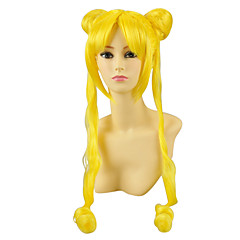 Peruki Cosplay Sailor Moon Sailor Moon Žlutý Długa Anime Peruki Cosplay 100 CM Włókno termoodporne Damskie