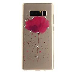 Недорогие Чехлы и кейсы для Galaxy Note 5-Кейс для Назначение Note 8 Стразы Ультратонкий Прозрачный С узором Задняя крышка Цветы Мягкий TPU для Note 8 Note 5 Edge Note 5 Note 4