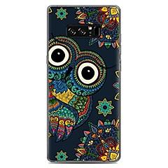 Недорогие Чехлы и кейсы для Galaxy Note 5-Кейс для Назначение С узором Задняя крышка Сова Мягкий TPU для Note 8 Note 5 Edge Note 5 Note 4 Note 3 Lite Note 3 Note 2 Note Edge Note
