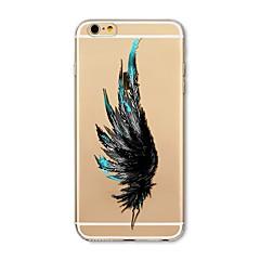 Недорогие Кейсы для iPhone 7-Кейс для Назначение Apple iPhone X iPhone 8 Прозрачный С узором Кейс на заднюю панель  Перья Мягкий ТПУ для iPhone X iPhone 8 Pluss