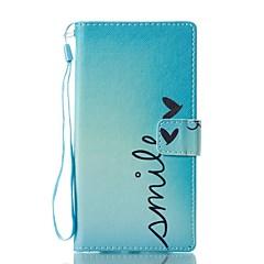 Кейс для Назначение Sony Кошелек Бумажник для карт со стендом Флип С узором Магнитный Чехол Слова / выражения Твердый Искусственная кожа