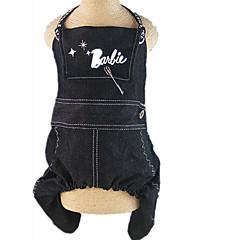 お買い得  犬用ウェア&アクセサリー-犬 ハーネス 犬用ウェア カジュアル/普段着 文字&番号 ブラック コスチューム ペット用