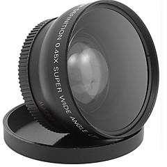 広角マクロレンズ52 mm 0.45x hdv-c2カムコーダー1080pデジタルカメラ