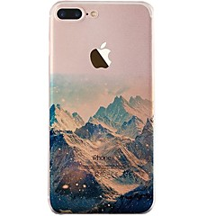 billige Etuier til iPhone 6-Etui Til iPhone X iPhone 8 Ultratyndt Transparent Mønster Bagcover Landskab Blødt TPU for iPhone X iPhone 8 Plus iPhone 8 iPhone 7 Plus