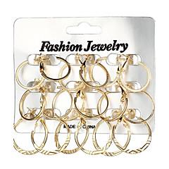 preiswerte Ohrringe-Damen Geometrisch Kreolen - Geometrisch, Modisch Gold / Silber Für Geschenk / Alltag