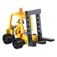DHZ-kit Bouwblokken Vorkheftruck Speeltjes Vorkheftruck Voertuigen Klassiek Nieuw Design Volwassenen 37 Stuks